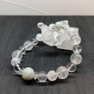 【5月・ ヒスイ 】 誕生石 と ヒマヤラ水晶 の お守り 浄化 ブレス