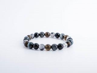 モリオン(黒水晶)の強力な厄除け&心身の浄化 ブレスレット