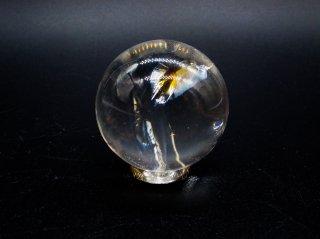 レインボー入り 水晶 スフィア(丸玉) 30mm