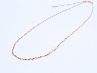 K14GF (14金ゴールドフィルド) ネックレス チェーン スライドアジャスター付き 45cm