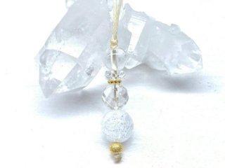 【 浄化 】ヒマラヤ水晶 の お守り ストラップ