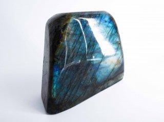 ラブラドライト 原石 磨きプレート B 857.8g