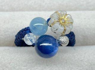 マクラメ * カイヤナイト 心身の安定・癒しを与える リング