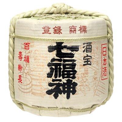 七福神 2斗樽-中身1斗(18L) 樽酒 上げ底 菊の司酒造のお祝い用 菰樽