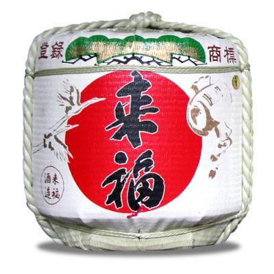来福 5升樽(5.4L)樽酒 本格地酒「来福」のお祝い用 菰樽