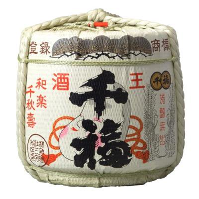 千福 4斗樽 中身2斗(36L)樽酒「三宅本店」のお祝い用 菰樽 上げ底