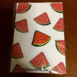 送料無料☆Watermelon For Kumamoto enamel pin designed by Spel Killz from Ohtoro