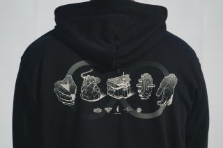 ROKURO HOODIE and CASSETTE SET w/ DL CODE(BLACK)