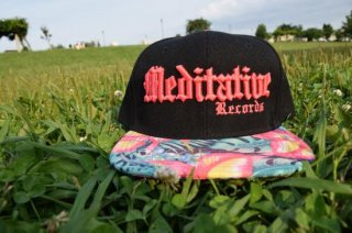 Meditative Cap: Black X Pink