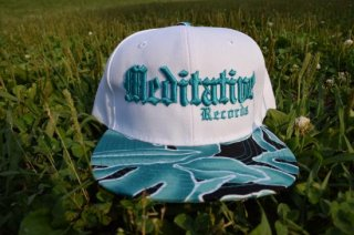 Meditative Cap: WHITE X BLUE