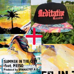 "Summer In The City[7""]+Medi Cap Black X Pink SET"