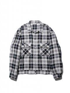 Linen Check Work L/S Shirt