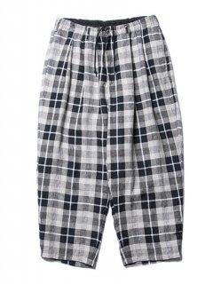 Linen Check 2 Tuck Easy Pants