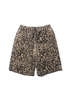 Corduroy Leopard Easy Shorts