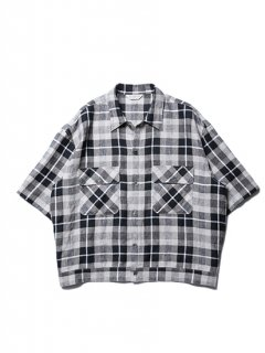Linen Check Work S/S Shirt