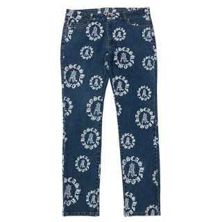 Æ CIRCLE LOGO ALL OVER DENIM PANTS