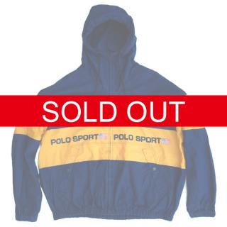 VINTAGE POLO SPORT FULL ZIP COTTON JACKET