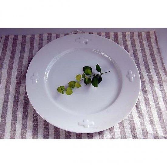 ディナー皿 ホワイトクロス