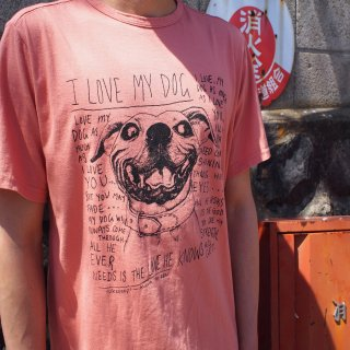rulezpeeps(ルールズピープス)I LOVE MY DOG TEE  (APRICOT)