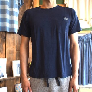 rulezpeeps(ルールズピープス) Smile Wool Pocket Tee (NAVY)<img class='new_mark_img2' src='//img.shop-pro.jp/img/new/icons13.gif' style='border:none;display:inline;margin:0px;padding:0px;width:auto;' />