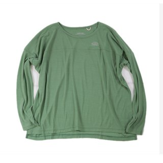 rulezpeeps(�롼�륺�ԡ��ץ�) Smile Wool Long Sleeve Ladies Tee (Green)<img class='new_mark_img2' src='//img.shop-pro.jp/img/new/icons13.gif' style='border:none;display:inline;margin:0px;padding:0px;width:auto;' />