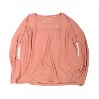 rulezpeeps(�롼�륺�ԡ��ץ�) Smile Wool Long Sleeve Ladies Tee (Apricot)<img class='new_mark_img2' src='//img.shop-pro.jp/img/new/icons13.gif' style='border:none;display:inline;margin:0px;padding:0px;width:auto;' />