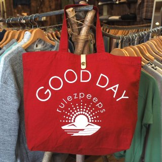 rulezpeeps�ʥ롼�륺�ԡ��ץ���GOOD DAY TOTE BAG��Red��<img class='new_mark_img2' src='//img.shop-pro.jp/img/new/icons13.gif' style='border:none;display:inline;margin:0px;padding:0px;width:auto;' />