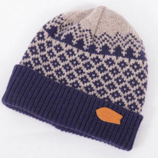 rulezpeeps(ルールズピープス) Yamanami Jacquard Beanie (Navy)<img class='new_mark_img2' src='//img.shop-pro.jp/img/new/icons13.gif' style='border:none;display:inline;margin:0px;padding:0px;width:auto;' />