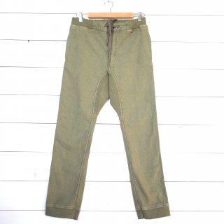 GOHEMP (ゴーヘンプ)  SLIM RIB PANTS/BACK SATIN STRETCH  (SAGE GREEN)<img class='new_mark_img2' src='//img.shop-pro.jp/img/new/icons13.gif' style='border:none;display:inline;margin:0px;padding:0px;width:auto;' />