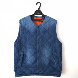 GOWEST(ゴーウェスト)QUILT DOWN VEST/6oz DENIM×DOWN/USED WASH<img class='new_mark_img2' src='//img.shop-pro.jp/img/new/icons13.gif' style='border:none;display:inline;margin:0px;padding:0px;width:auto;' />