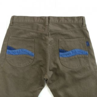 Nasngwam(ナスングワム) MEN'S RIPPLE PANTS PIQUE (GREIGE)