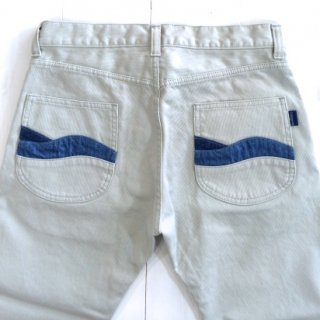 Nasngwam(ナスングワム) MEN'S RIPPLE PANTS PIQUE (WHITE)