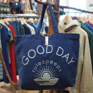 rulezpeeps(ルールズピープス)INDIGO GOOD DAY TOTE BAG<img class='new_mark_img2' src='//img.shop-pro.jp/img/new/icons59.gif' style='border:none;display:inline;margin:0px;padding:0px;width:auto;' />