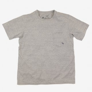 rulezpeeps(ルールズピープス) 24 Cotton Pocket Tee (GRAY)