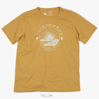 sale10%OFF!! rulezpeeps(ルールズピープス) ORGANIC COTTON LOGO TEE (Yellow)