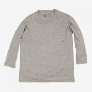 セール10%off!! rulezpeeps(ルールズピープス) 24COTTON 4/3 SLEEVE TEE (Grey)