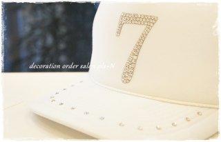 キャップ(帽子)デコ ナンバーデザイン