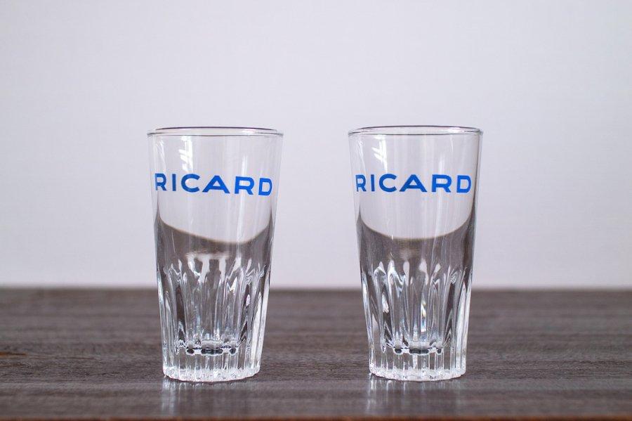 RICARD ミニグラス ゴシックロゴ (2個セット)