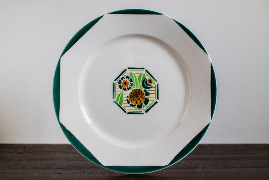 Digoin Sarreguemines窯製 Oxford デザート皿 (1)