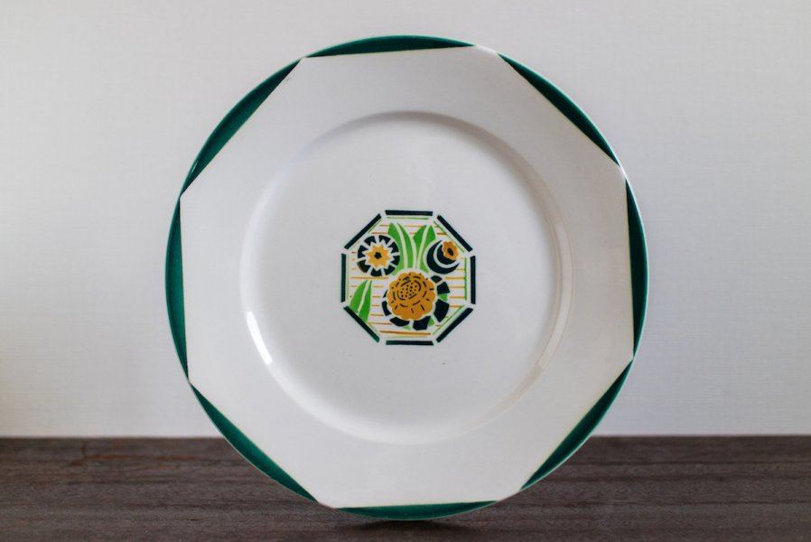 Digoin Sarreguemines窯製 Oxford デザート皿 (2)