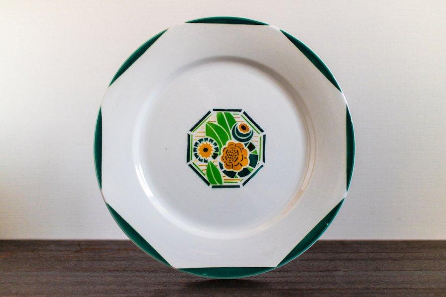 Digoin Sarreguemines窯製 Oxford ディナー皿 (1)