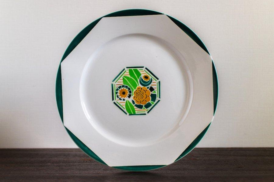 Digoin Sarreguemines窯製 Oxford ディナー皿 (2)