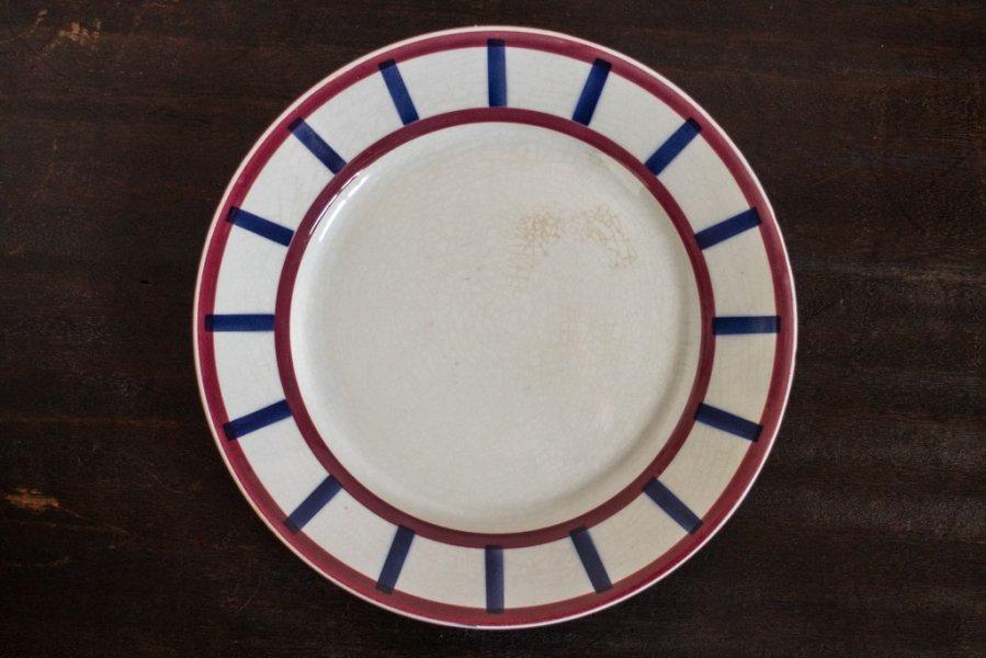 バスク模様の平皿 (Bearn その1)