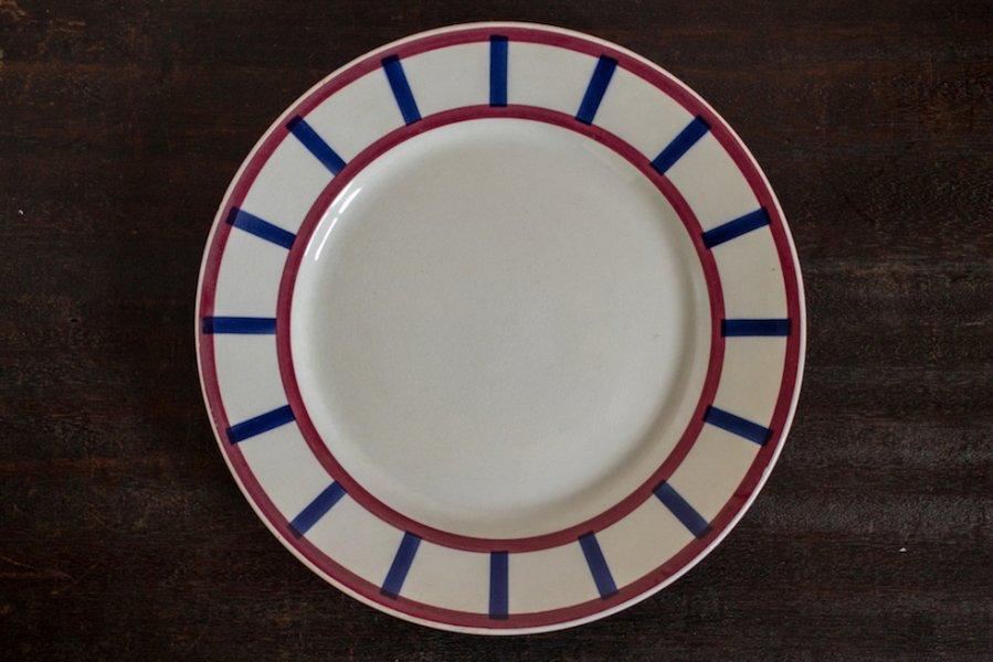 バスク模様の平皿 (Bearnその2)