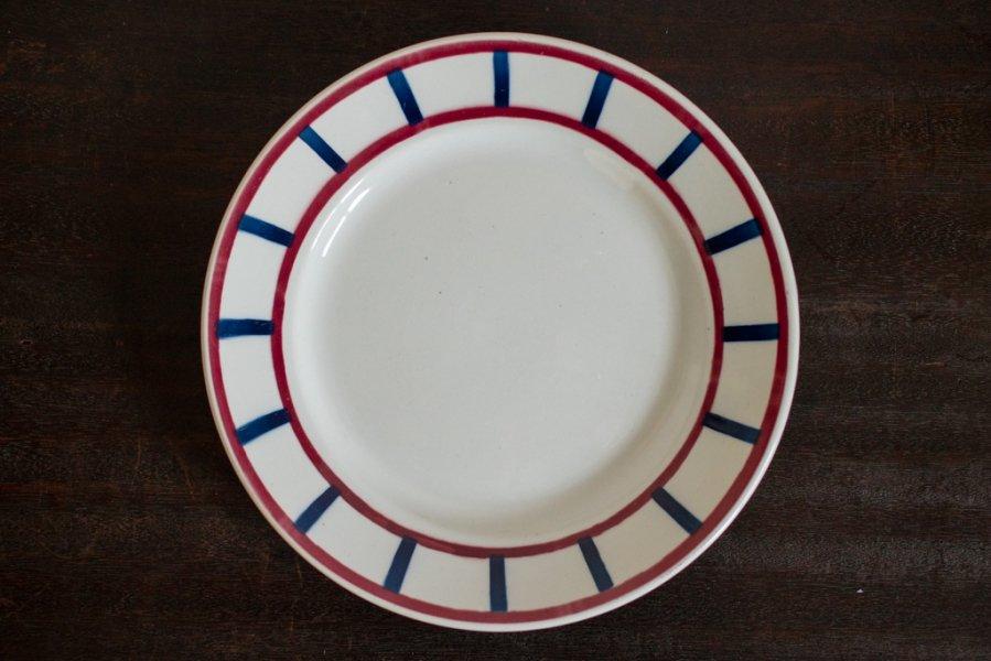 バスク模様の平皿 (FBその1)