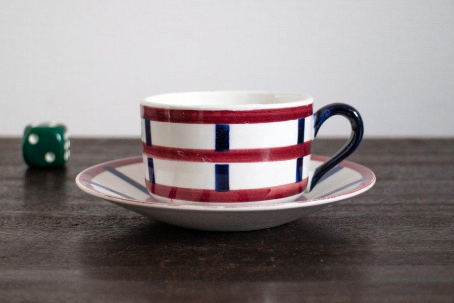 Bearn バスク模様のコーヒーカップ&ソーサー(2)