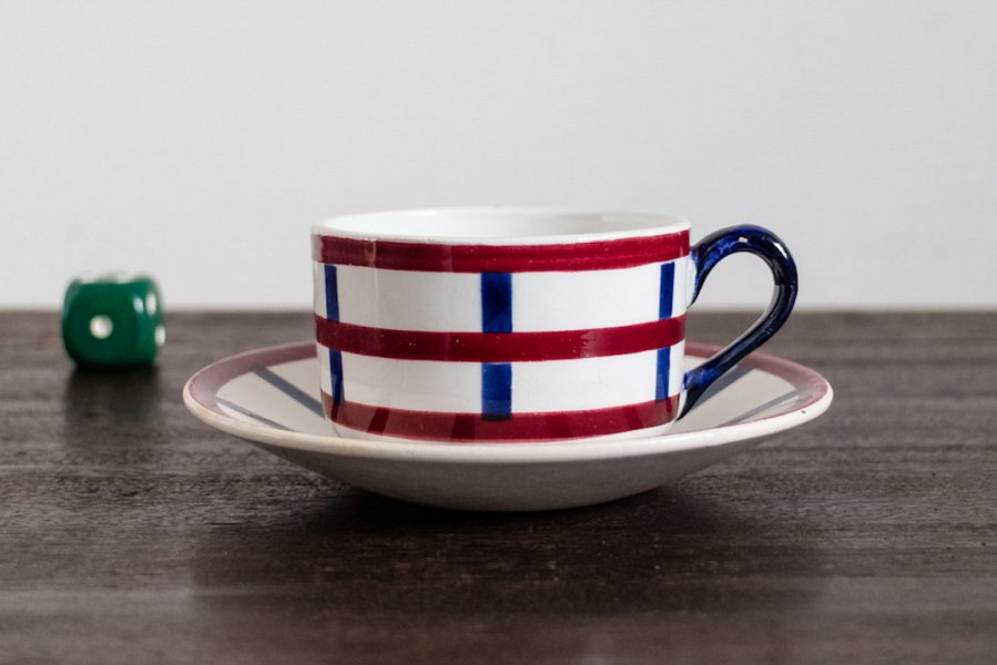 Bearn バスク模様のコーヒーカップ&ソーサー(1)