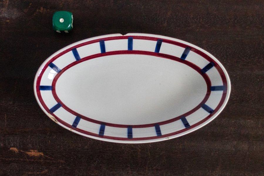 Bearn バスク模様のオーバル皿 M(1)