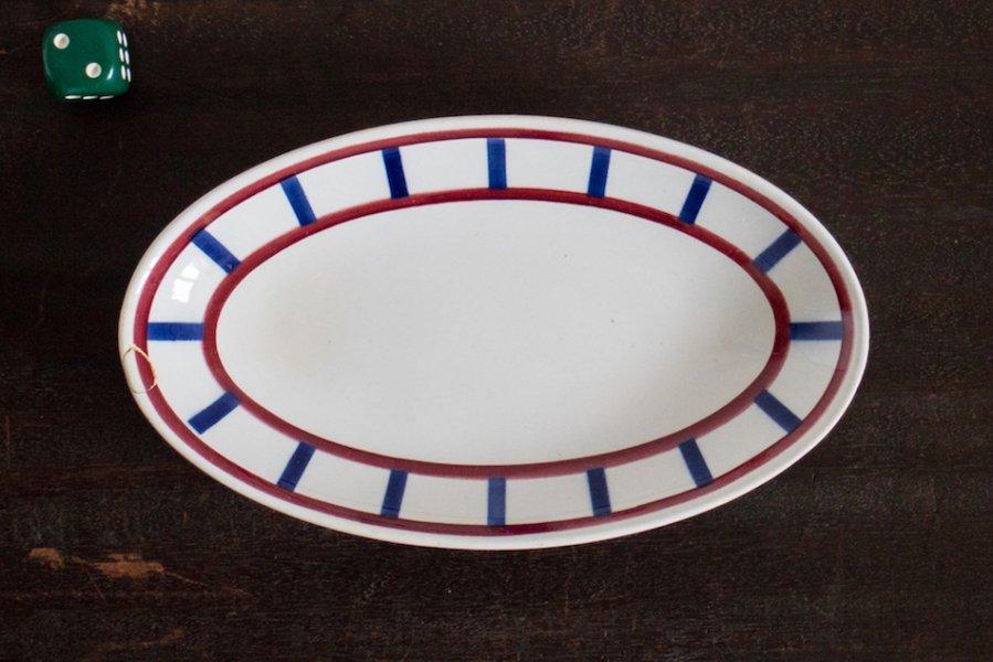 Bearn バスク模様のオーバル皿 M(2)