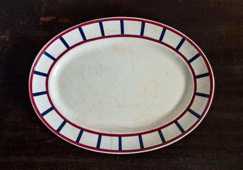 Bearn バスク模様のオーバル皿 XL